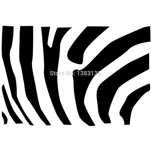 A Zebra Striped Pattern Silhouette Car Sticker for Truck Window Bumper Door Kayak Vinyl Decal 8 Colors Gold