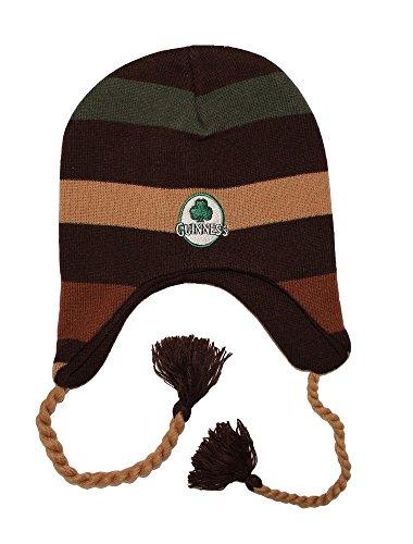 Guinness Men's Striped Beanie Brown ()