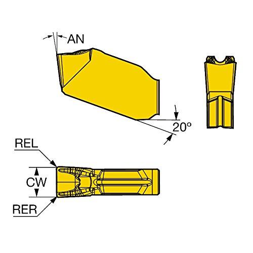 Ti, Al Pack of 10 Sandvik Coromant QD-NC-0120-0001-CF 1125 Coro Cut QD Insert for Parting Carbide N+ Neutral Cut N 1125 Grade, Ti,Cr,Al