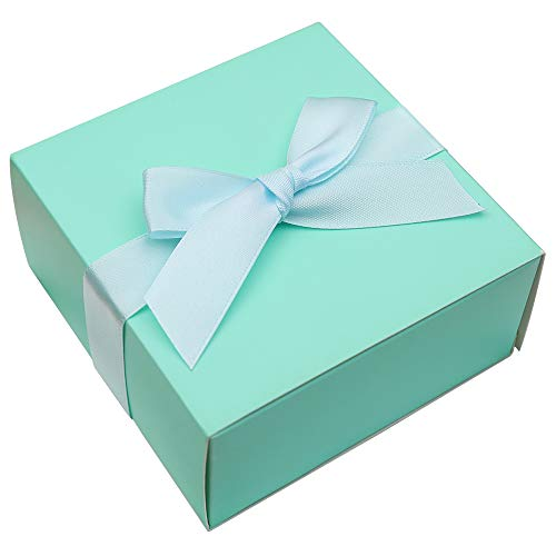 - Doris Home 50 pcs 1.89x4x4 inch Birthday Wedding Party Favor, Wedding Gift Bags Chocolate Candy and Gift Boxes Bridal Shower Party Paper Gift Box Pink Boxes with Ribbons (Tiffiny Blue)