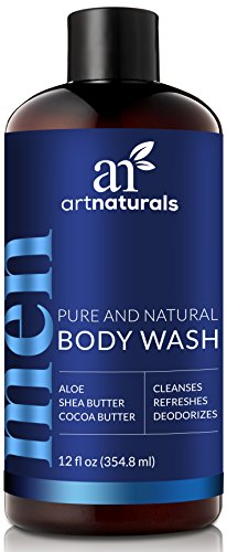ArtNaturals Men's Natural Body Wash – (16 Fl Oz/473ml) – Shower Gel that Cleanses, Refreshes and Deodorizes – with Aloe Vera, Shea Butter, Essential Oils and Cocoa Butter - Shower Wash Natural