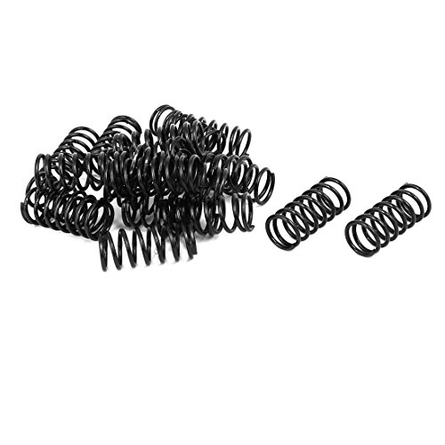 uxcell 1.2mm Wire Dia 11mm Outer Diameter 25mm Length Compression Springs Black 20pcs