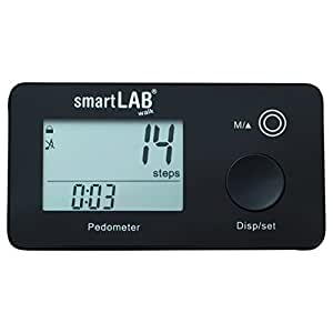 smartLAB walk 3D Podómetro con una gran pantalla. Cuenta pasos, calorías y distancia recorrida