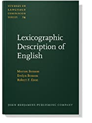 Lexicographic Description of English