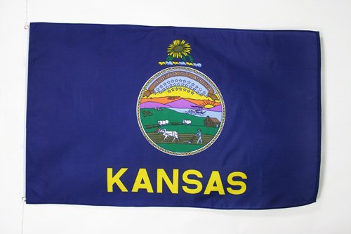 KANSAS FLAG 2' x 3' - US STATE OF KANSAS FLAGS 60 x 90 cm -