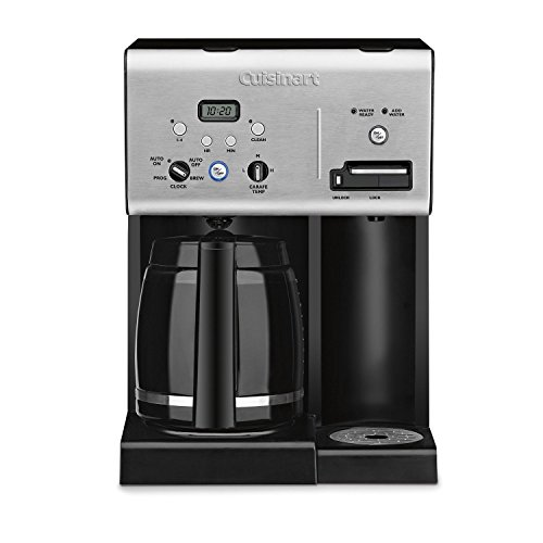 Cuisinart CHW-12FR 12-Cup Programmable Coffee Maker (Renewed), 1 Cubic ft, Black/Stainless