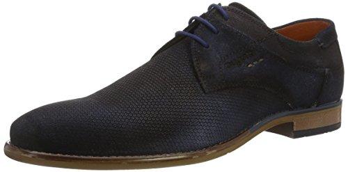 Bugatti 311249011400, Zapatos de Cordones Derby para Hombre Azul (Dark Blue 4100)
