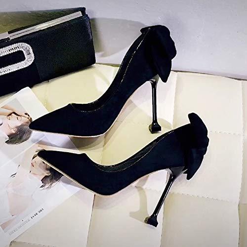 Shoes Autumn Women'S Heels Dress Princess High Shoes Yukun Autumn Black High Wild heels Evening Tide Stiletto xwqAI6