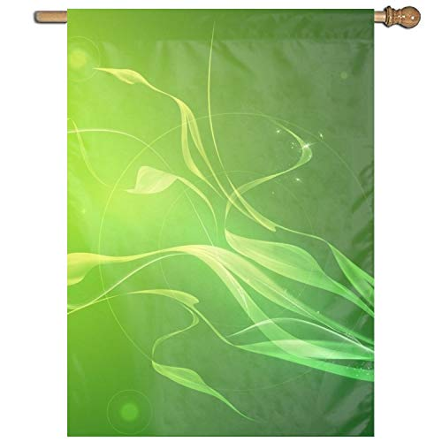 Dominic Philemon Abstract Green Clip Art Welcome Garden Flag Vertical Outdoor and Indoor 27 x 37 Inch