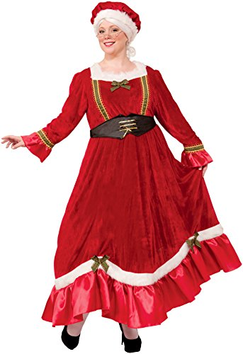 Forum Novelties Women's Plus Size Mrs. Claus Costume, Multi, (Santa Claus Costumes For Ladies)