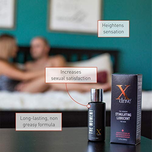 Xdrive's The Moment Stimulating Personal Lubricant for Men, Male Enhancing Silicone-Based Lube, Personal Lubricant for Sex - DreamBrands (1.4 fl oz)