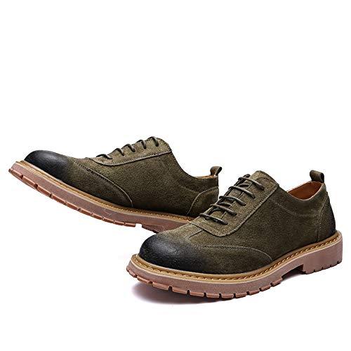 Hommes Semelle 42 Vert Chaussures Oxford Pour Richelieus Rond 2018 Rétro Décontracté Eu À Mode Taille Bout Vert Confortable La color Avec De Homme BInwPRx