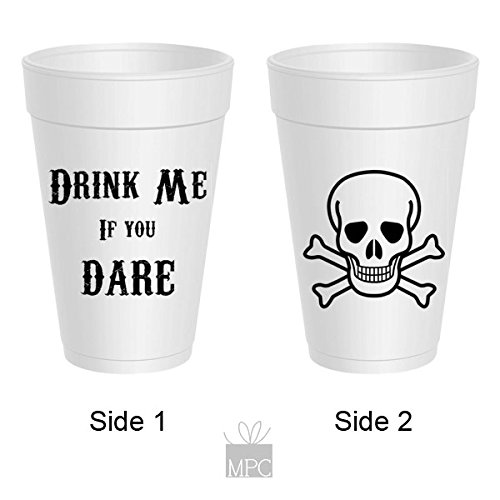 Halloween Styrofoam Cups - Drink Me If You Dare