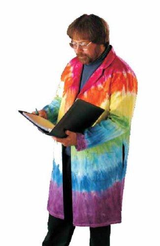 Tie Dyed Knee Full Length Lab Coat Medium Size 40 (Coat Tie Lab Dye)