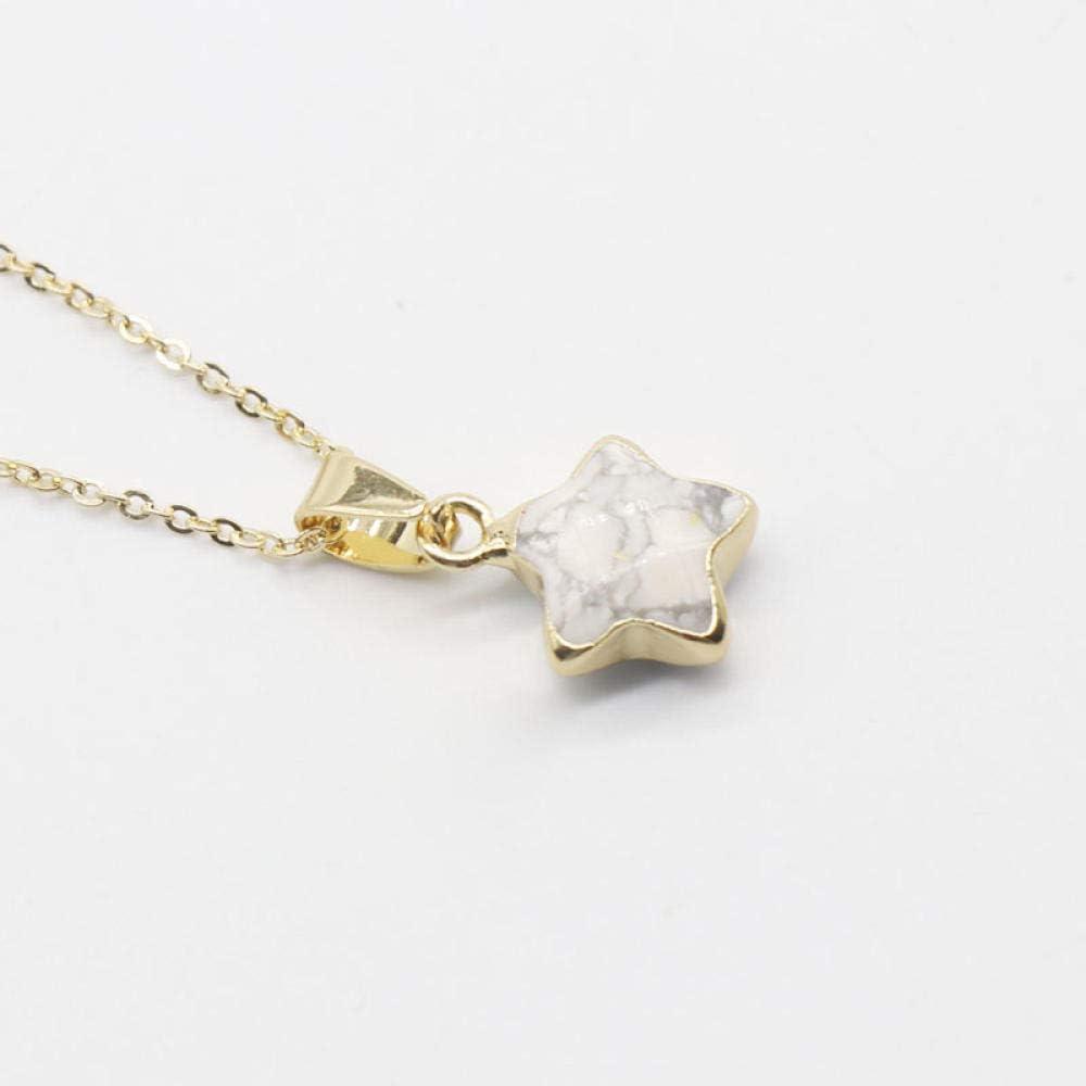 N/C Colgantes de Cristal Joyas Joyas Collares Pendientes de Estrella Linda Labradorita Amatistas Naturales Reales Collares Pendientes de Piedra de Cuarzo
