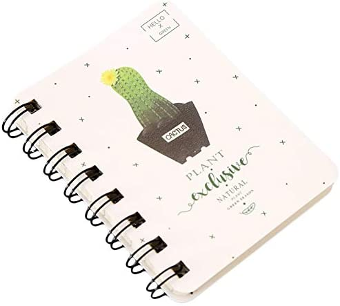 MSYOU Hardcover Notizbuch, schlicht, klein, frischer Kaktus-Stil, Tagebuch, qualitativ hochwertig, dickes Papier, für Schule und Büro