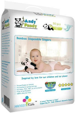 Andy Pandy Disposable Bamboo Diapers