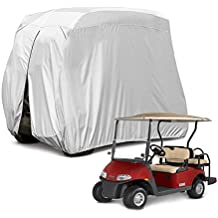 "Himal 4 Passenger Waterproof Golf cart Cover roof 80"" L, fits EZ GO, Club car Yamaha, dustproof Durable,Grey"