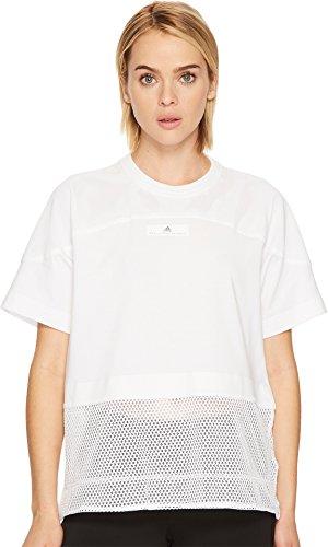 adidas by Stella McCartney Women's Essentials Mesh Tee, White, Small
