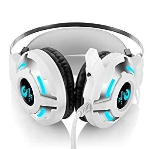 FNSHIP 3.5mm Port Wired Gaming Headset,LED Backlit Stereo Bass Earphones Headphone with Mic Volume Control For PS4 New Xbox One PSP PC Laptop Tablet Smartphones (x6)