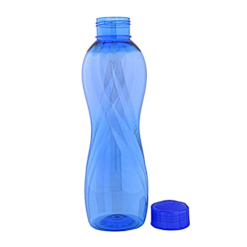 Cello Twisty PET Bottle Set, 1000ml, Set of 6, Blue