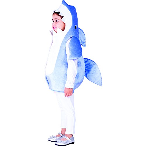 Dress Up America Sky Blue Shark - Size Toddler 2 ()