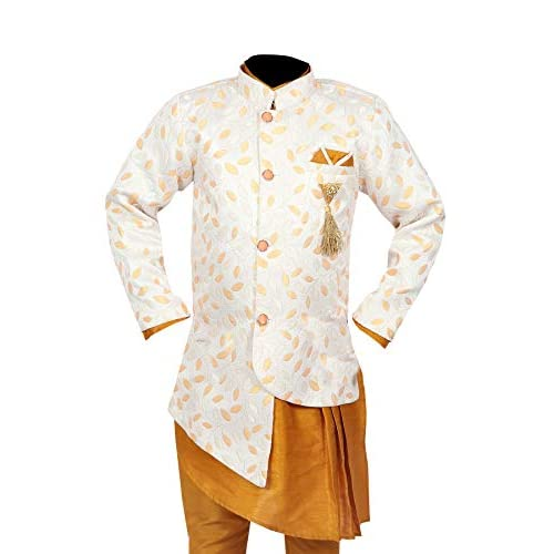 41CZBL2hKGL. SS500  - Ahhaaaa Kids Ethnic Wear Kurta Pyjama Waistcoat Set For Boys