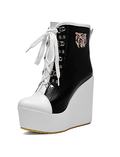 2016 heeled Lace And Shoes Xzz Eu32 5 Eu39 With 5cm Fashion Boots 12 us8 Up Slope Uk6 Cn40 High 5 Black Female eu43 The d0wq88vCxn