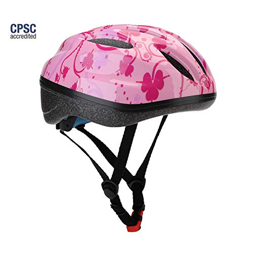Dostar Kid's Bike Helmet, Youth Lightweight Road Mountain Racing Adjustable Cycling Multi-Sport Safety Bike Skating Scooter Bicycle Helmets for 5-14 Years Old Boys/Girls (Pink -