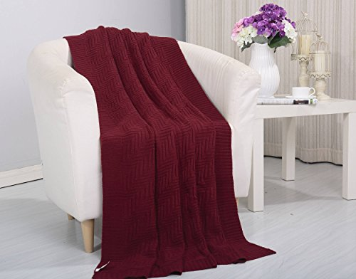 50' Fleece Throw Blanket (Soft Touch Classic Woven Knitted Throw Blanket (50