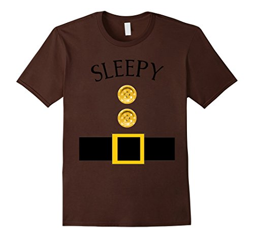 Mens Cute Sleepy Halloween Group Costume T Shirt | Team Tees Small Brown