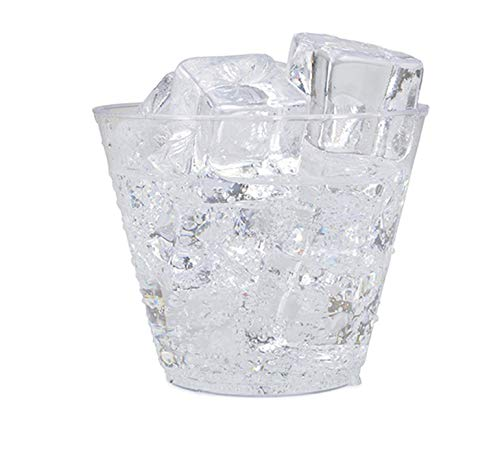 9oz Clear Plastic Cups 100-Count Disposable Party Cups/Old Fashioned Reusable Plastic Tumblers For Drink, Snack, Appetizer & Dessert - Stock Your Home