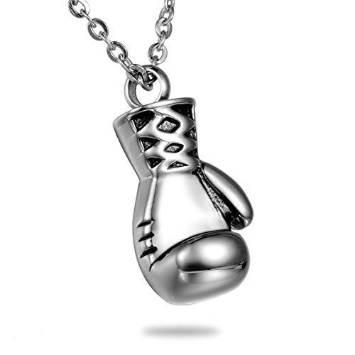 Boxing Gloves Cremation Jewelry Stainless Steel Detachable Waterproof Memorial Ash Keepsake Urn Necklace