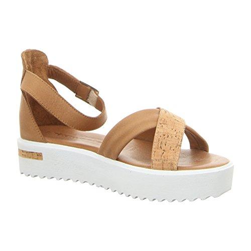 Tamaris 1-1-28214-28-356 - Sandalias de vestir de Piel para mujer 356COGNAC/CORK
