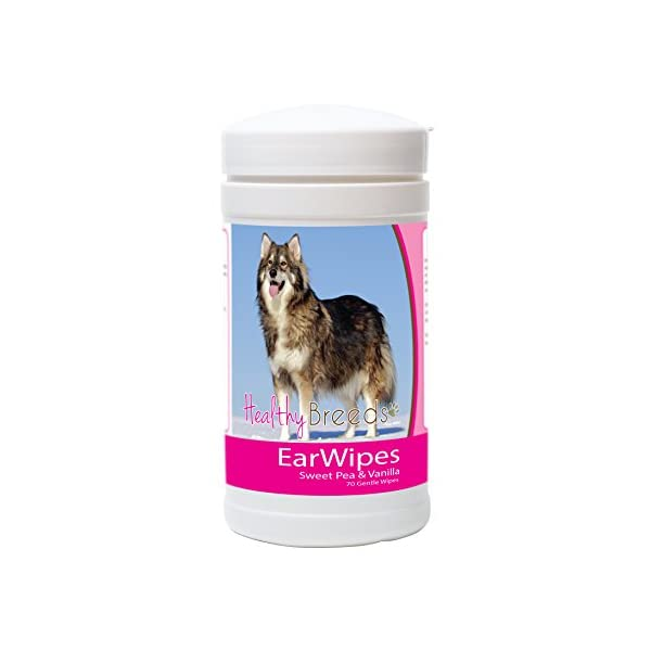Healthy Breeds Dog Ear Wipes - Over 200 Breeds - Sweet Pea & Vanilla Scent - 70 Count 1