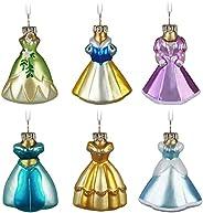 Hallmark Keepsake Christmas Ornaments 2021, Disney Princess Fit for a Princess, Glass Set of 6