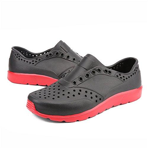 Hueca de los Vaqueta de los Zuecos Negro de pequeñas Sandalias de en Hombres Zapatos Sandalias Playa HqO8cWwf