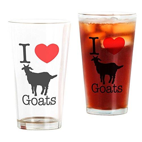 CafePress I Heart Goats Pint Glass, 16 oz. Drinking ()