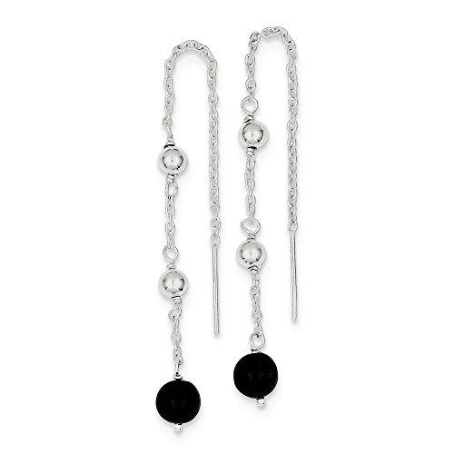 (925 Sterling Silver Black Onyx Drop Dangle Chandelier Earrings Fine Jewelry Gifts For Women For Her)