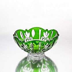 Fine Green Crystal Accent Bowl