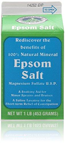 1 Lb Salt (White Mountain Epsom Salt Container, 1 lb/16 oz, 4)