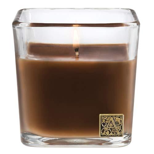 Aromatique Cinnamon Cider Glass Cube Candle, 12 Ounces