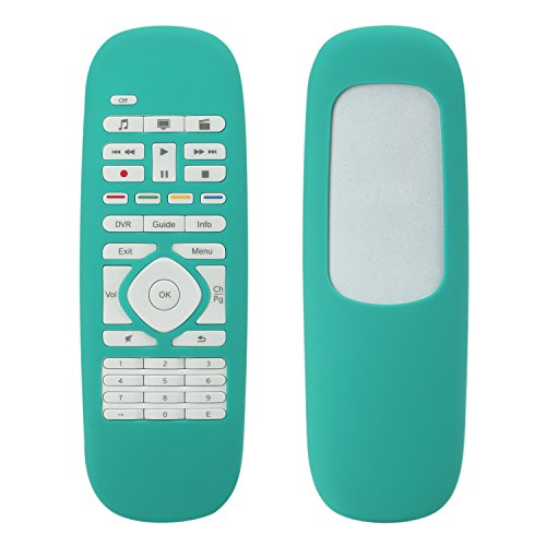 For Logitech Harmony Smart Cover, Lightweight Anti- Dust and Anti-Drop Silicone Protective Case for Logitech Harmony Smart Remote Control--Seafoam