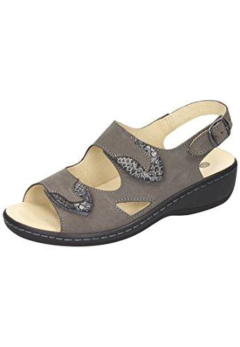 Dr. Brinkmann Dr. Brinkmann Damen Sandalette - Sandalias de vestir de Piel para mujer gris gris gris