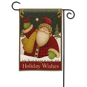 Imán funciona Ltd BreezeArt Premium decorativa jardín banderas–Lodge de Papá Noel