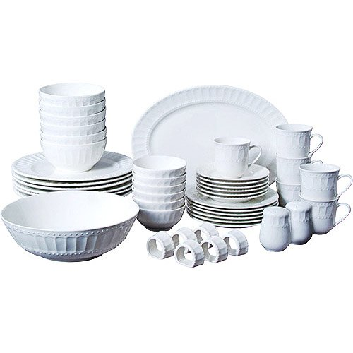 46 Piece Dinner (46-piece Dinnerware and Serveware Set, Fine China Set for 6)