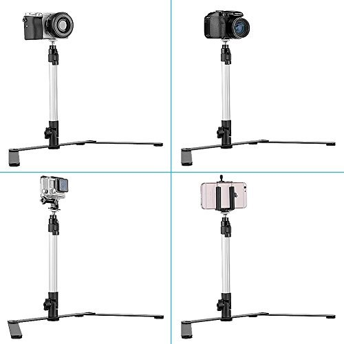 Neewer Light Weight Adjustable Camera Table Top Monopod Stand Tripod Support Rig for DSLR, Digital Camera & Camcorder (Camera Copy Stand)