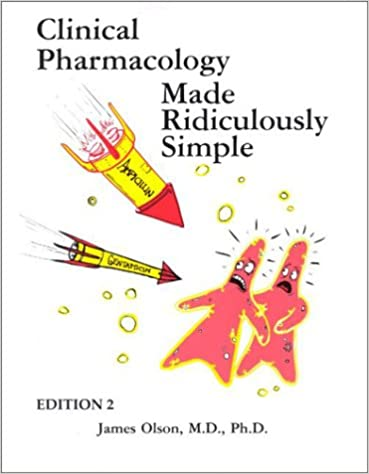 Kết quả hình ảnh cho Clinical Pharmacology Made Ridiculously Simple, Second Edition [2nd ed.]