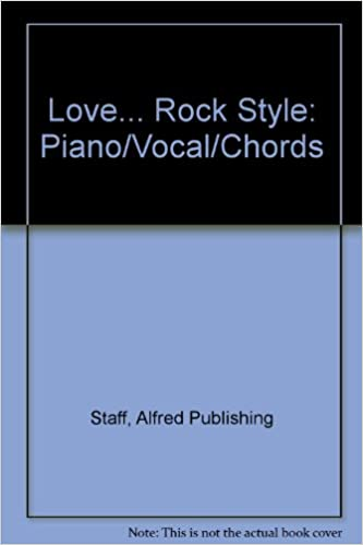 Love Rock Style Pianovocalchords Alfred Music 0029156186123