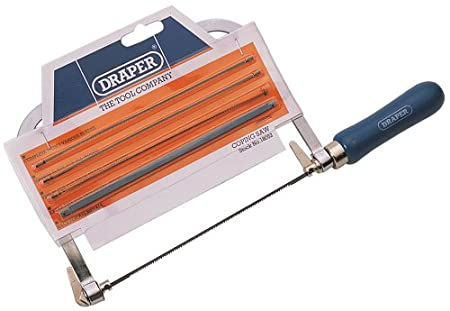 Draper 18052 coping saw frame with 5 blades amazon diy tools draper 18052 coping saw frame with 5 blades greentooth Gallery